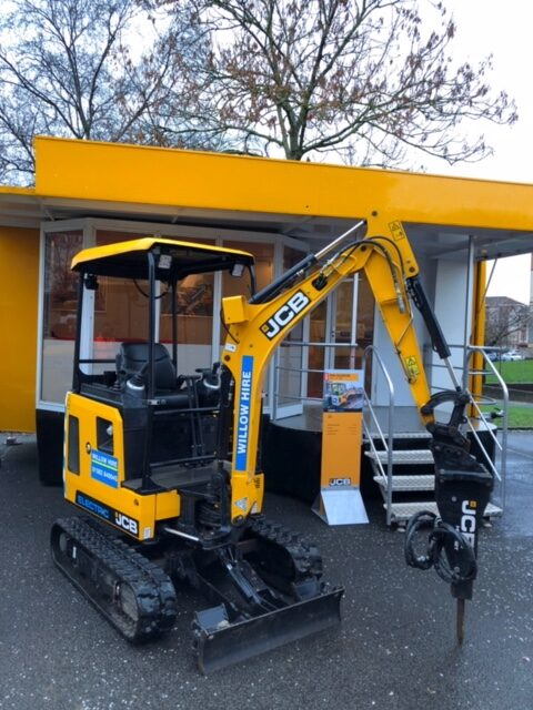 JCB Electric excavator hire